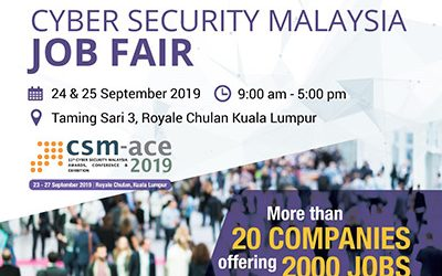 Cybersecurity Malaysia Collaboration – Sept 2019